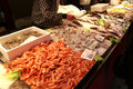 Seafood at rialto fish market in venice italy Royalty Free Stock Photography