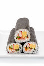 Seafood Rolled sushi Royalty Free Stock Photo