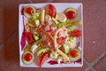 Seafood Salad For Lunch At A Caf�, Nice, France