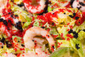 Seafood salad, macro Royalty Free Stock Photography