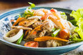 Seafood salad with minced pork and vegetable Royalty Free Stock Photo