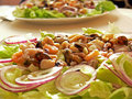Seafood salat Royalty Free Stock Image