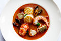 Seafood stew Stock Images