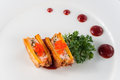 Seafood sweet potato,kaiseki Royalty Free Stock Photo