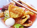 Seafood yong tau foo rice noodles with fishball Royalty Free Stock Image