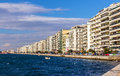 Seafront in Thessaloniki Royalty Free Stock Photo