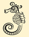 Seahorse decorative ornament Stock Image
