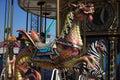 Seahorse dragon carousel ride Royalty Free Stock Photo