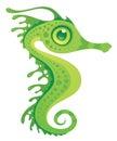 Seahorse frondoso del drago del mare Fotografie Stock Libere da Diritti