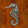 Seahorse handicraft on ground floor Royalty Free Stock Image