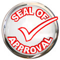 Seal of Approval Quality Control Endorsement Label Stamp