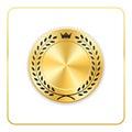 Seal award gold icon Blank medal Royalty Free Stock Photo