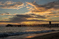 Seal Beach Pier Sunset Royalty Free Stock Photo