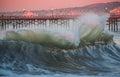 Seal Beach Shore Break Flair Royalty Free Stock Photo