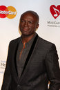 Seal los angeles feb arrives at the muiscares gala honoring barbra streisand at convention center on february in los angeles ca Stock Images