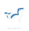 Seal minimal vector illustration