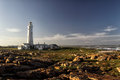 Seal Point Lighthouse in Cape St. Francis, South Africa Royalty Free Stock Photo