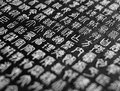 Seal script calligraphy is an ancient style of chinese it evolved organically out of the zhōu dynasty see bronze Royalty Free Stock Images