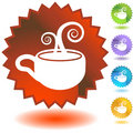Seal Set - Coffee Cup Royalty Free Stock Photo