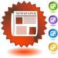 Seal Set - News Royalty Free Stock Photo