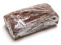 Sealed chocolate loaf on white background Stock Photo