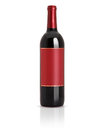 Sealed red wine bottle Royalty Free Stock Photo