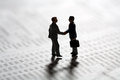 Sealing a business transaction with a handshake Royalty Free Stock Photo