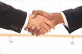 Sealing a deal close up of business men shaking hands Royalty Free Stock Photography