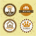 Seals design over vintage background vector illustration Stock Images