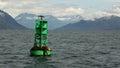 Seals som ligger på bojet Fotografering för Bildbyråer
