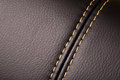 Seam on leather Royalty Free Stock Photo