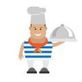 Seaman cook illustration of on white background Stock Photos