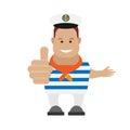 Seaman illustration of on white background Stock Photography