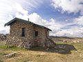 Seaman s hut kosciuszko np medium view of on the track up to mount Royalty Free Stock Image
