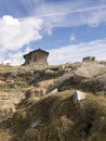 Seaman s hut kosciuszko np wide view of on the track up to mount Stock Photography