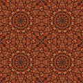 Seamlees Pattern with Symmetry Decoration Stock Photography