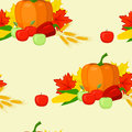 Seamles background fall harvest Royalty Free Stock Photo