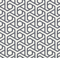 Seamles geometric pattern with hexagons and triangles - vector eps8