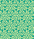 Seamles geometric pattern from hexagons and triangles - vector eps8