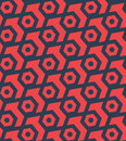 Seamles hexagonal abstract geometric pattern - vector eps8