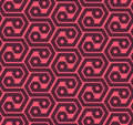 Seamles hexagons abstract geometric pattern - vector eps8