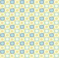 Seamles pattern with yellow and blue ovals cute Royalty Free Stock Photo