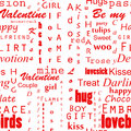 Seamles Valentines text background Stock Photography