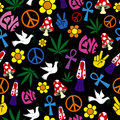 Seamless 60s icons background
