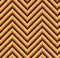 Seamless 60s Retro Zigzag Pattern Warm
