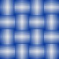 Seamless abstract background with blue checker patterns in metallic design, 3d optical art illusion Royalty Free Stock Photo
