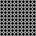 Seamless abstract black and white square pattern - halftone vector background from diagonal squares