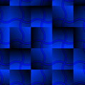Seamless Abstract Blue Pattern Royalty Free Stock Photo