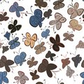 Seamless abstract butterfly illustrations background. Line, underwater, pattern & graphic. Royalty Free Stock Photo