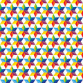 Seamless abstract colorful background of star shap shapes vector graphic this illustration consists repetitive shapes in Stock Photography
